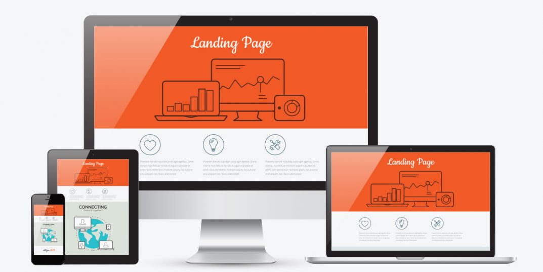 What is the landing page and how does it work